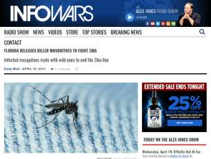 Florida Releases Killer Mosquitoes To Fight Zika » Alex Jones' Infowars: There's a war on for your mind!